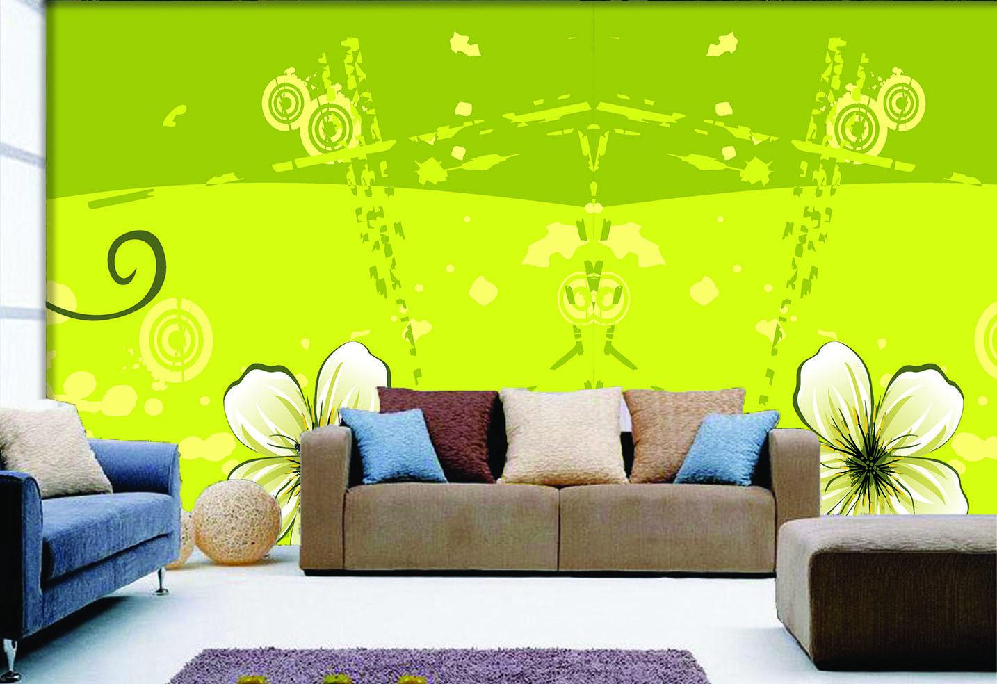 3D Gekritzel Blaumen 72 Tapete Wandgemälde Tapete Tapeten Bild Familie DE Summer