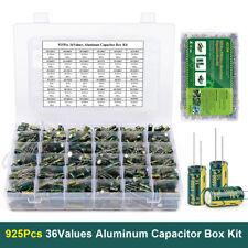 925pcs 10v 63v 1uf 1500uf 36values Jccon Electrolytic Capacitor Assortment Kit