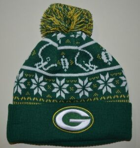 Green Bay Packers winter hat one size knit beanie Aaron Rodgers  c6cbd5f9451