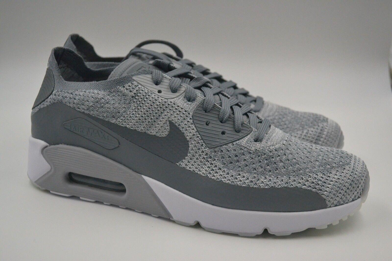04d60b66373 Nike Air Max 90 Ultra 2.0 Flyknit Cool Grey Platinum Mens Running ...