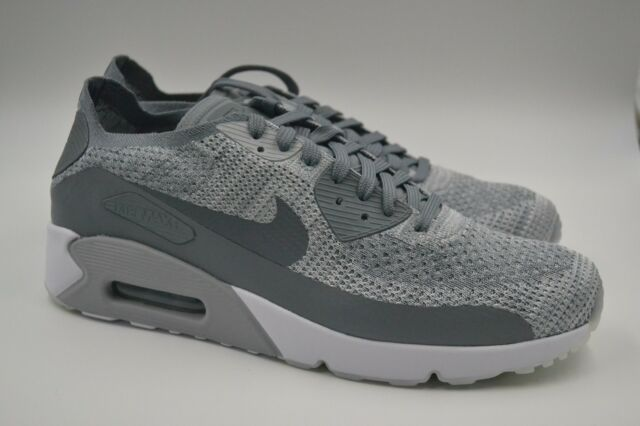 d8b750ef8b77 Nike Air Max 90 Ultra 2.0 Flyknit Pure Platinum Cool Grey 875943-003 Mens