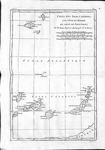 Antique-maps-Carte-des-isles-Canaries-avec-l-039-isle-de-Madere