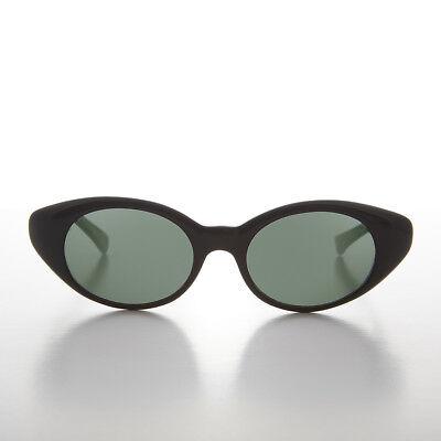 Bene Nero Occhio Di Gatto Anni 80 Vintage Classico Occhiali Da Sole Con Verde Lenti - Per Farti Sentire A Tuo Agio Ed Energico