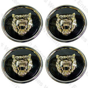 jaguar wheel badge set wheel motif 1988 2012 black. Black Bedroom Furniture Sets. Home Design Ideas