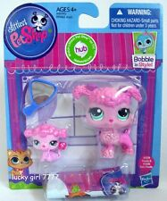 Littlest Pet Shop MOMMY & BABY POODLE Puppy Dog #3599 #3600 FREE SHIP US SELLER
