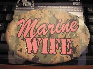 MARINE-WIFE-OVAL-AUTO-MAGNET