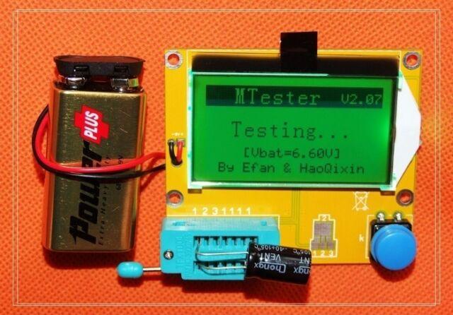 NEW Versio Transistor Tester Diode Triode Capacitance LED ESR Meter MOS PNP/NPN