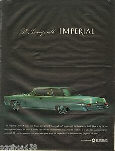 Image is loading 1963-Chrysler-Imperial-Crown-Coupe-Auto-Original-Vintage- af1b4a880
