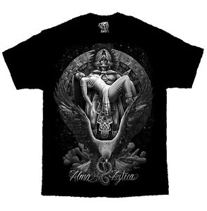 Alma-Azteca-Warrior-Mayan-Chicano-Art-David-Gonzales-DGA-T-Shirt