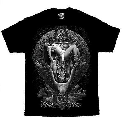 Alma Azteca Warrior Mayan Chicano Art David Gonzales DGA T Shirt