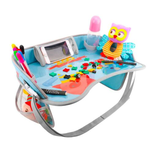 Zooawa Baby Kids Safety Travel Tray Drawing Board Table Car Seat Snack Play Tray