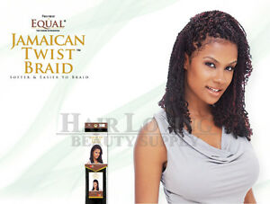 Image Is Loading Freetress Equal Jamaican Twist Marley Braid Synthetic