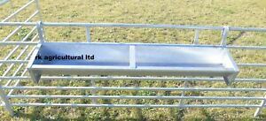 "4ft 6"" Hook over galvanised feed trough X2"