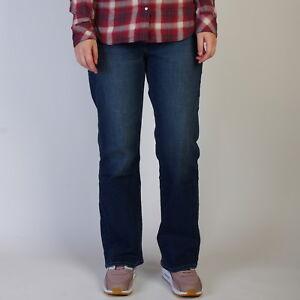 Levi-s-529-Curvy-Boot-Cut-Outpost-Damen-Indigo-blau-jeans-12S-W31-L30