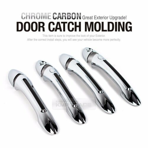 Chrome Carbon Door Catch Molding Trim Garnish Cover for HYUNDAI 2011-2014 Sonata