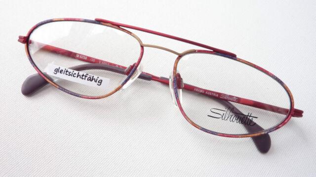 Silhouette schmale Piloten-Brille stabil kunterbunt Fassungen fetzig Grösse L