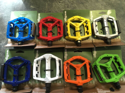 "Colour Choice Wellgo Alloy Pedals DX Type With Boron Axle 9//16/"" One Pair"