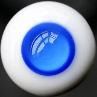 [wamami]EW16# 16mm Dark Blue No Pupil For BJD Doll Dollfie Glass Eyes Outfit
