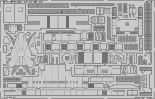 Eduard 1//200 Photoetched HMS Hood pt 53197 7 main top for Trumpeter kit