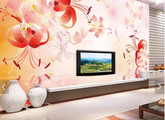 3D Cartoon Flower Water 415 Paper Wall Print Wall Decal Wall Deco Indoor Murals