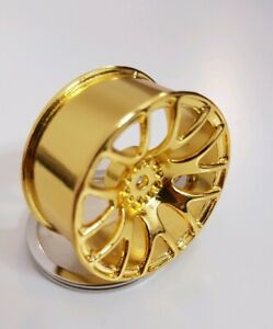 1x Felge Schlüsselanhänger chrome gold aus Metall BBS Style edel Auto Tuning neu