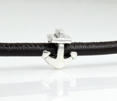 """antik silber Armband herstellen old-school 6x Metallperle /""""Anker/"""" Ø 4,5 mm"""