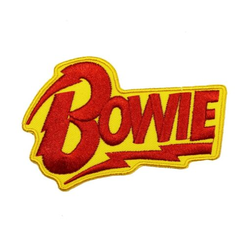 David Bowie Name Patch Music Artist Actor Glam Rock Band Iron On Applique