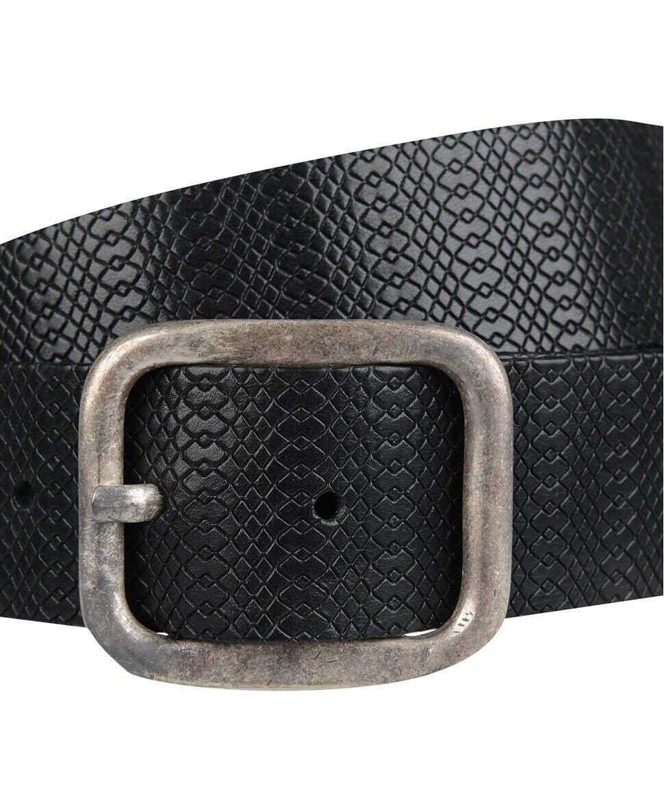 Herren Herren Herren WEINMANN Ledergürtel schwarz geprägtes Leder Dornschließe Echtleder 110cm   Neuheit  176bbb