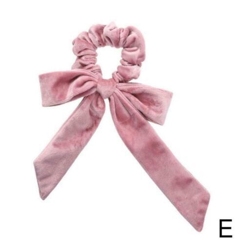 Mädchen elastisches Haarseil Krawatte Scrunchie Pferdeschwanz Blumenband K2Q2