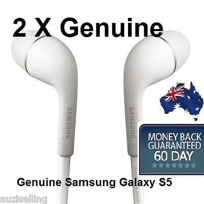 2 X Genuine Samsung Galaxy S5 Handsfree Headphones Earphones fits S4 S3 Note 3 2