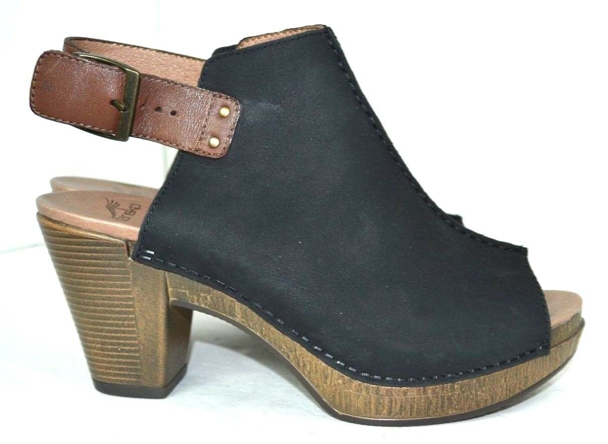 DANSKO nero GENUINE LEATHER SUEDE scarpe Dimensione 40  9 - 8.5 M  3.5  HIGH HEELS