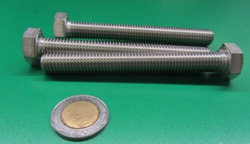 M12 x 1.75 x 100 mm Length 18-8 A2 Stainless Steel Bolt 3 Units Metric FT