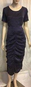 Flower-Blue-Silk-Wiggle-Skirt-Sz-10-12-Fully-Lined-And-Matching-Silk-Top-NWT