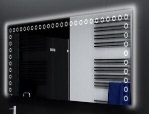 Badspiegel-mit-LED-Beleuchtung-Badezimmerspiegel-Bad-Spiegel-Wandspiegel-D127