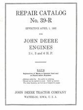 39 John Deere Model E Repair Catalog Book Gas Engine Motor