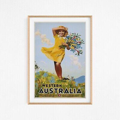 Western Australia Springtime Travel Vintage Wall Art Poster Print Rare Vintage