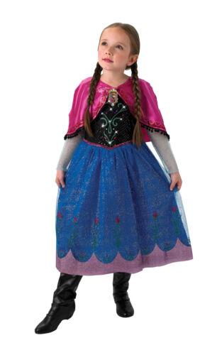 Bambine Bambini Childs Musical//accendono Anna Costume Vestito RUBINI congelato