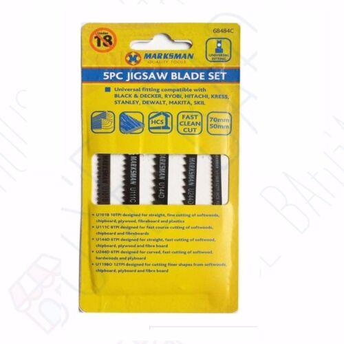STANLY KRESS HITACHI 2 X 5PC Universal Jigsaw Blade Set BLACK /& DECKER RYOBI