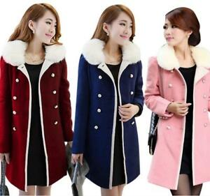 Womens-Thick-Slim-Korean-Thick-Slim-Fit-Trench-Coat-Wool-Blend-Mid-long-Jacket