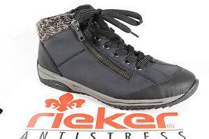 Rieker Bottes Femmes Chaussures Pour Bleues Neuf L5223 baskets Lacets À Bottines ZIq5rIWaw