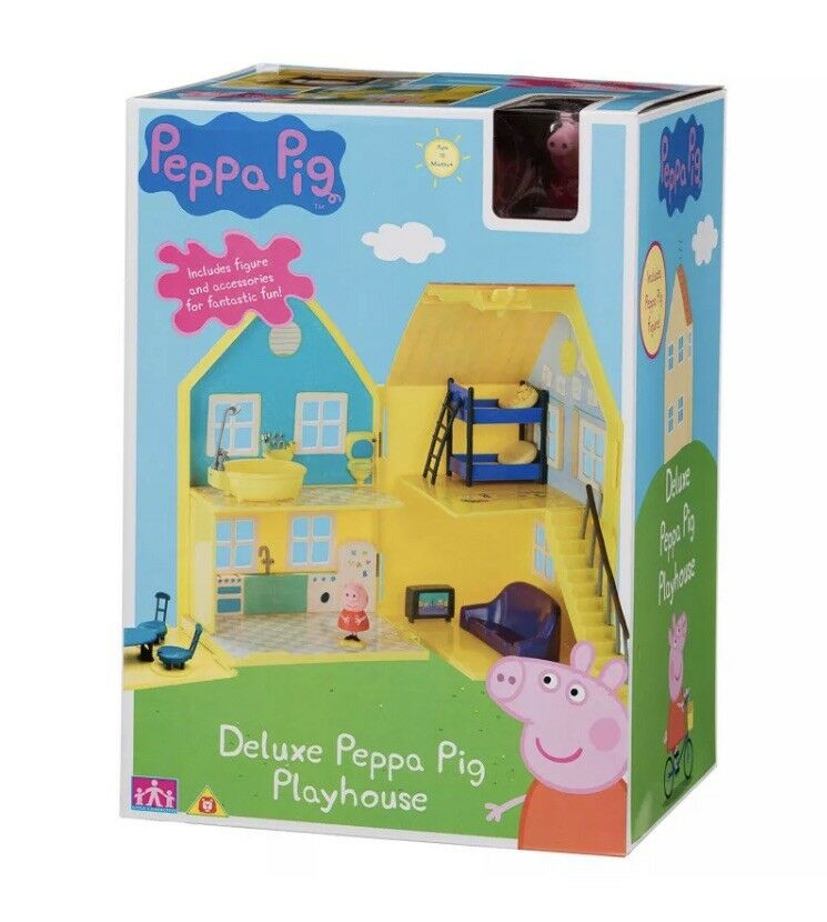 Peppa Peppa Peppa Pig deluxe playhouse Play House & figures and accessories Age 18m+ Toy c2f9bd