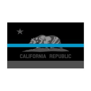 California-CA-State-Flag-Thin-Blue-Line-Police-Sticker-Decal-243-Made-in-USA