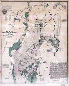 Map-Antique-USA-Civil-War-Battlefield-Gettysburg-Replica-Canvas-Art-Print