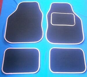 LEXUS IS250 IS220 2005 ONWARDS TAILORED BLACK CAR MATS WITH BLUE TRIM