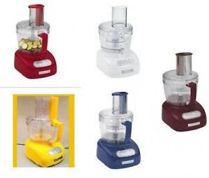 Kitchenaid Food Processor 9 Cup Red Blue White Ebay