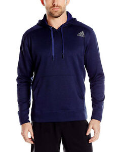 Mens-Adidas-Ultimate-Indigo-Fleece-Hoodie-Pull-Over-Sweatshirt-AI5453-Size-S-XXL
