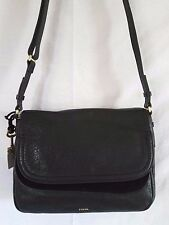 FOSSIL Peyton Large Double Flap Leather Crossbody Shoulder Bag NICE!  NWT!  $228