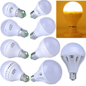 9W 12W 15W 20W 25W Warm White Energy Saving E27 LED Bulbs SMD Globe Bulb Light