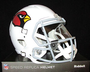 f48de1f8 Details about ARIZONA CARDINALS NFL Full Size SPEED REPLICA Football Helmet  - with VISOR New