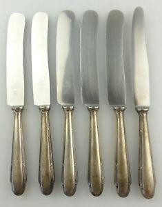 WMF 800er Silber mehr 2500 Art Deco //Bauhaus Dessertmesser